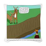 Deer Pressure Woven Throw Pillow