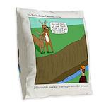 Deer Pressure Burlap Throw Pillow