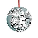 Vancouver Canada Souvenir Round Ornament
