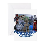 Vancouver Canada Souveni Greeting Cards (Pk of 20)