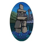 Vancouver Canada Souvenir Sticker (Oval)