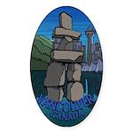 Vancouver Canada Souvenir Sticker (Oval 50 pk)