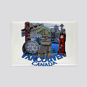 Vancouver Canada Souvenir Rectangle Magnet
