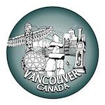 Vancouver Canada Souvenir Round Car Magnet