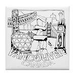 Vancouver Canada Souvenir Tile Coaster