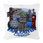 Vancouver Canada Souvenir Woven Throw Pillow