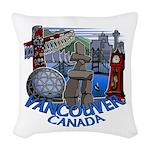 Vancouver Canada Souvenir Woven Throw Pillow