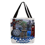 Vancouver Canada Souvenir Polyester Tote Bag