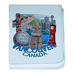 Vancouver Canada Souvenir baby blanket