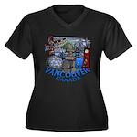Vancouver Ca Women's Plus Size V-Neck Dark T-Shirt