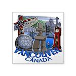 "Vancouver Canada Souvenir Square Sticker 3"" x 3"""