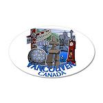 Vancouver Canada Souvenir 35x21 Oval Wall Decal
