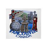 Vancouver Canada Souvenir Throw Blanket