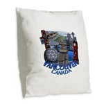 Vancouver Canada Souvenir Burlap Throw Pillow