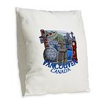 Vancouver Canada Souvenir Burlap Throw Pillow