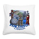 Vancouver Canada Souvenir Square Canvas Pillow
