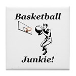 Basketball Junkie Tile Coaster