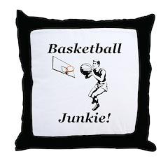 Basketball Junkie Throw Pillow
