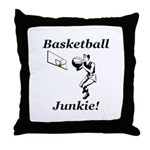Basketball Junkie Throw Pillow