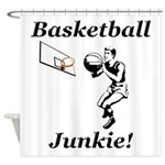 Basketball Junkie Shower Curtain