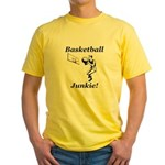 Basketball Junkie Yellow T-Shirt