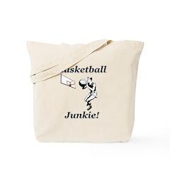 Basketball Junkie Tote Bag