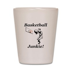 Basketball Junkie Shot Glass