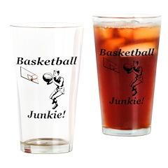 Basketball Junkie Drinking Glass