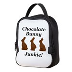Chocolate Bunny Junkie Neoprene Lunch Bag