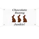 Chocolate Bunny Junkie Banner