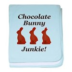 Chocolate Bunny Junkie baby blanket