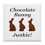Chocolate Bunny Junkie Tile Coaster