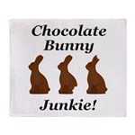Chocolate Bunny Junkie Throw Blanket