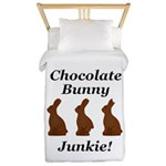 Chocolate Bunny Junkie Twin Duvet