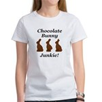 Chocolate Bunny Junkie Women's T-Shirt