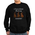 Chocolate Bunny Junkie Sweatshirt (dark)