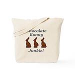 Chocolate Bunny Junkie Tote Bag
