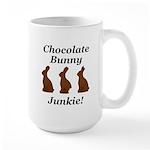 Chocolate Bunny Junkie Large Mug