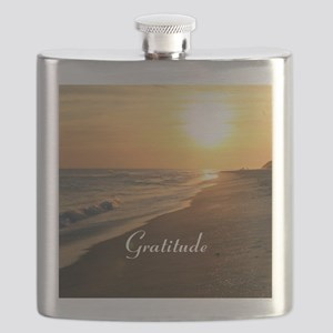 Gratitude Beach Sunset Mantra Flask