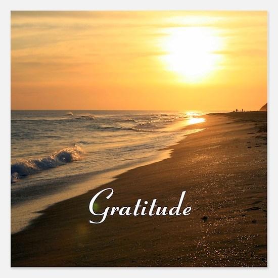 Gratitude Beach Sunset Mant Invitations