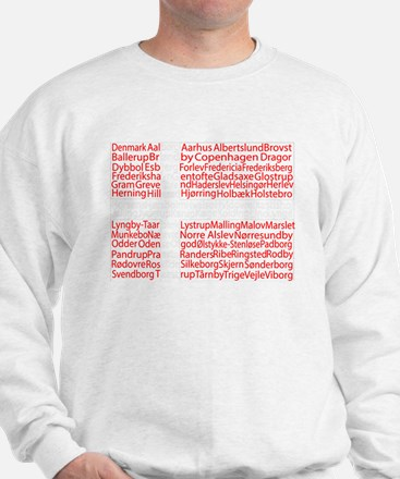 Danish Cities Flag Sweatshirt