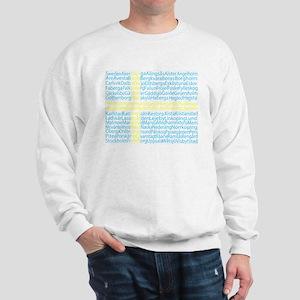Swedish Cities Flag Sweatshirt
