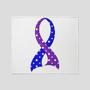 RA Polka Dot Ribbon Throw Blanket