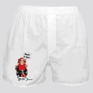 Hash It Out With Jane Boxer Shorts