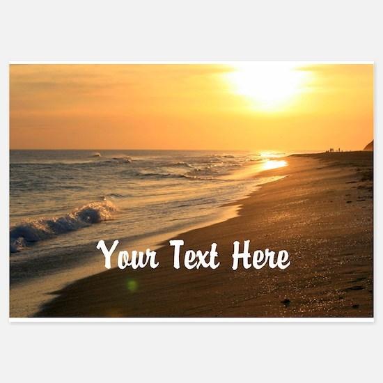 Gratitude Beach Sunset Mantra Invitations