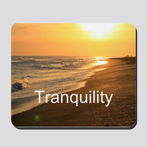 Gratitude Beach Sunset Mantra Mousepad