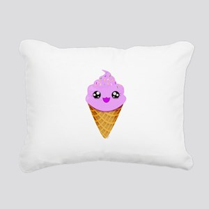 Strawberry Kawaii Ice Cream Cone Rectangular Canva