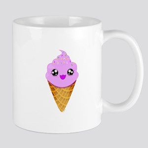 Strawberry Kawaii Ice Cream Cone Mugs