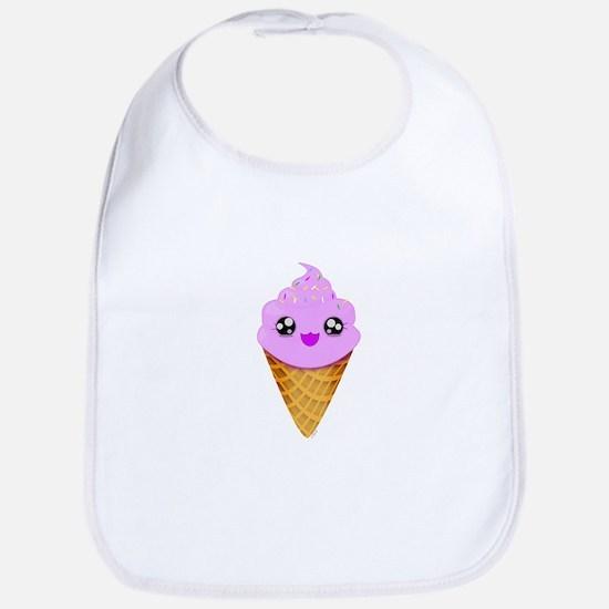 Strawberry Kawaii Ice Cream Cone Bib