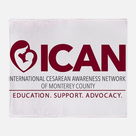 ICAN of Monterey County Logo Throw Blanket